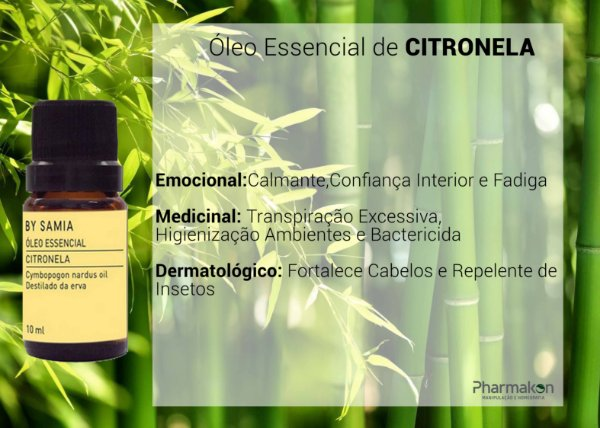 Óleo Essencial de Citronela 10ml - By Samia