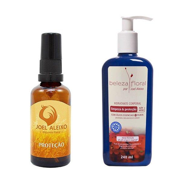 Kit Proteção - Floral Alquímico Proteção e Loção Hidratante Limpeza e Proteção
