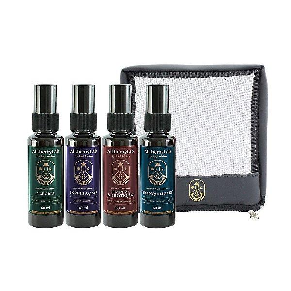 Kit Necessaire c/ 4 Spray(s) Ambiental - Joel Aleixo Alkhemylab