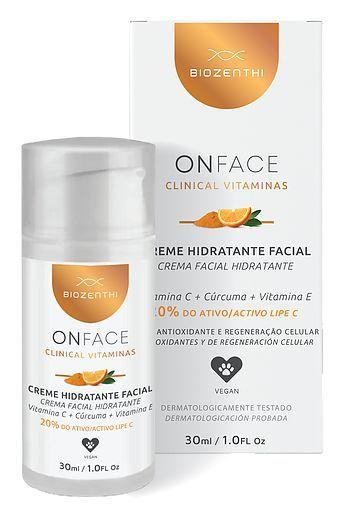 Creme Hidratante Facial Vitaminas C 20% + Cúrcuma + Vit E 30ml - Biozenthi