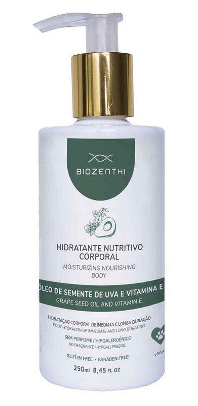 Hidratante Nutritivo Corporal Sem Perfume 250ml - Biozenthi