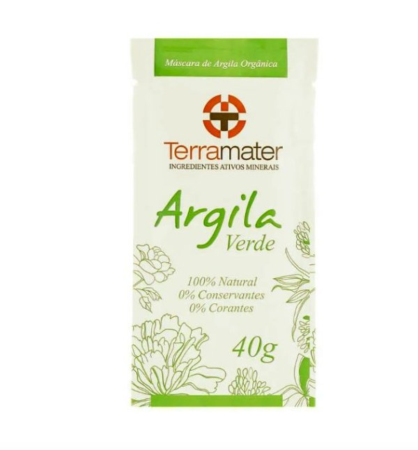 Máscaras de Argila Verde Orgânica 40g – Terramater