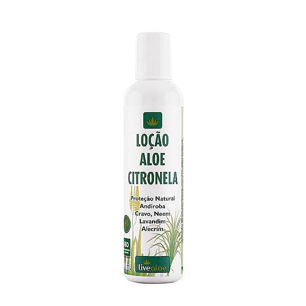 Loção Aloe Citronela 200ml - Livealoe