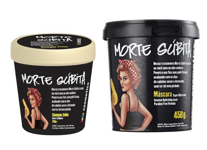 Kit Shampoo Sólido e Máscara Super Hidratante Morte Súbita - Lola Cosmetics