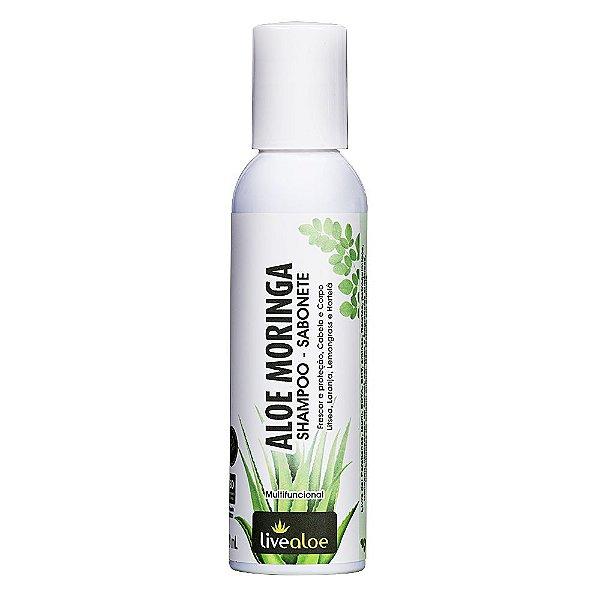 Aloe Moringa Shampoo-Sabonete Multifuncional 120ml - Livealoe