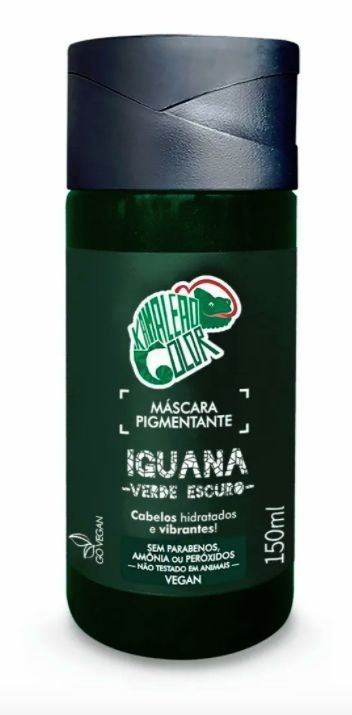 Máscara Pigmentante Iguana - Verde Escuro 150mL - Kamaleão Color