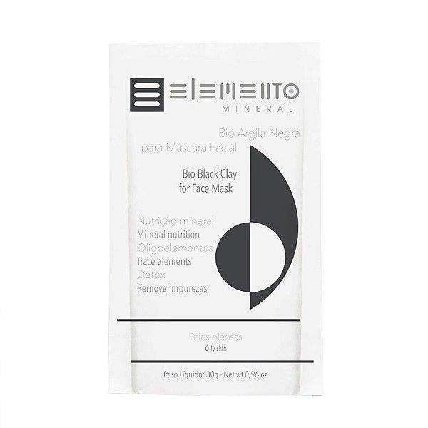 Bio Argila Negra Máscara Facial 30g – Elemento Mineral