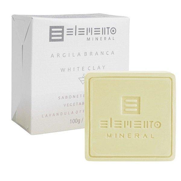 Sabonete Facial de Argila Branca Natural 100g – Elemento Mineral