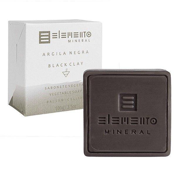 Sabonete Facial de Argila Negra Natural 100g – Elemento Mineral