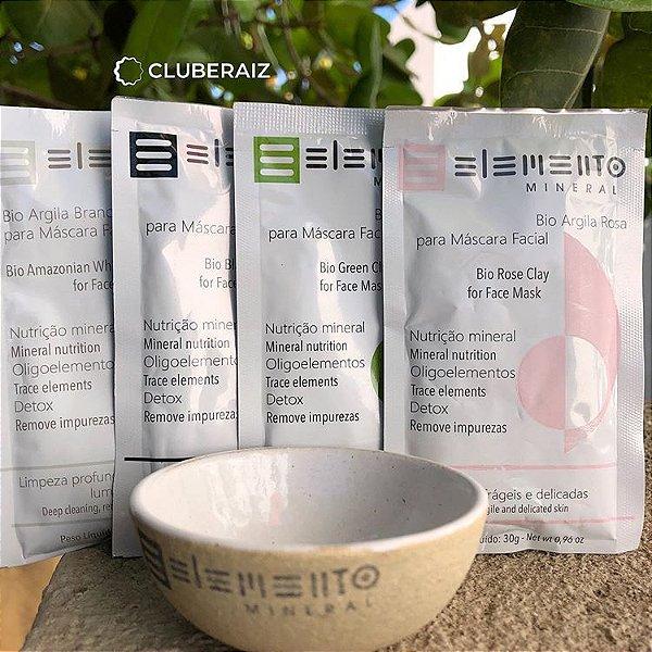 Kit Bio Argilas Purificante facial 30g – Elemento Mineral
