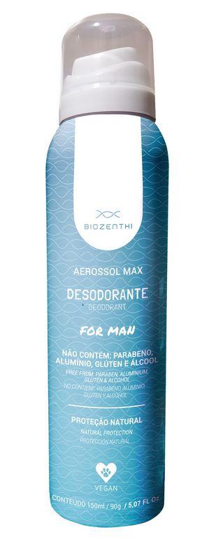 Desodorante Aerossol Max For Man 150ml - Biozenthi