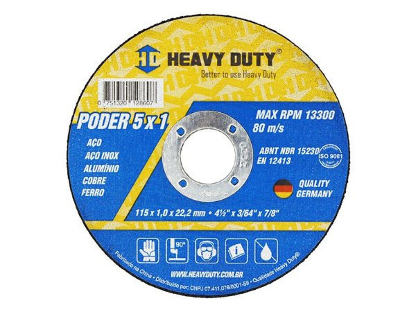 Disco de Corte Multimaterial 115 X 1,0 X 22,2 mm Heavy Duty