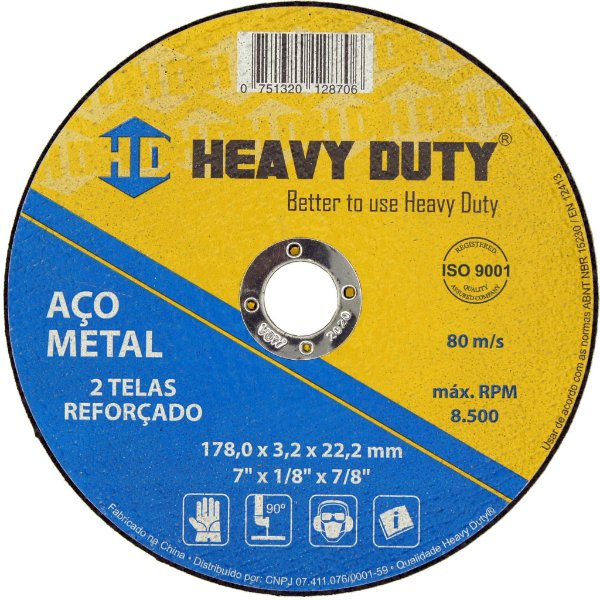 Disco de Corte Multimaterial  178 x 1,6 x 22,2 mm Heavy Duty