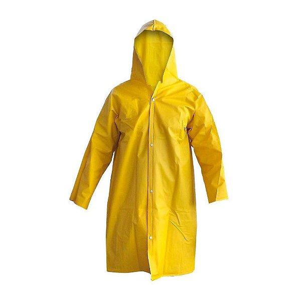 Capa de chuva Pvc com Capuz Amarela CA12227 Rcc