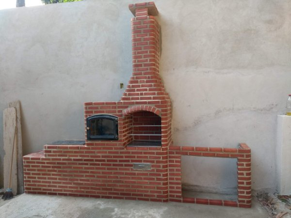 Churrasqueira + Forno Blindado + Fogão a Lenha + Estrutura de 150cm