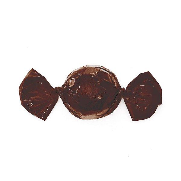 Papel Trufa 15x16cm - Marrom Cafe - 100 unidades - Cromus - Rizzo Embalagens