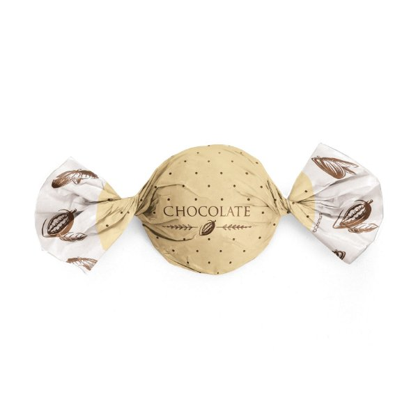 Papel Trufa 15x16cm - Cacau Ouro - 100 unidades - Cromus - Rizzo Embalagens
