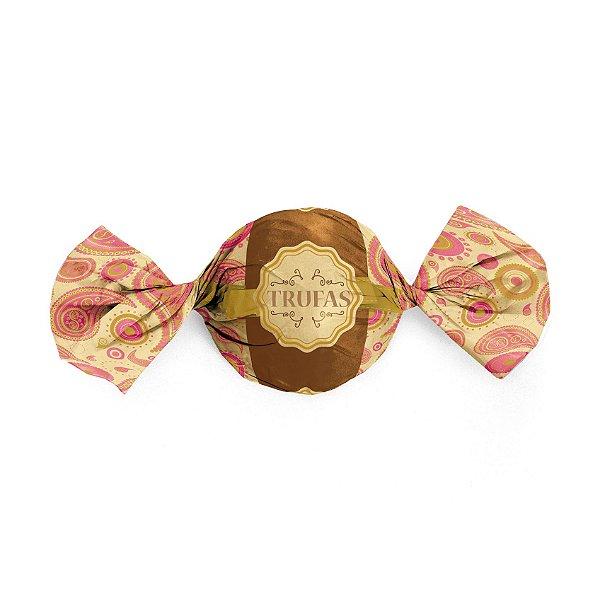 Papel Trufa 15x16cm - Dulce Rosa - 100 unidades - Cromus - Rizzo Embalagens