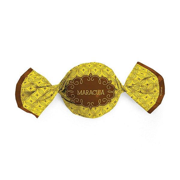 Papel Trufa 15x16cm - Gostosura Maracuja - 100 unidades - Gourmet - Cromus - Rizzo Embalagens