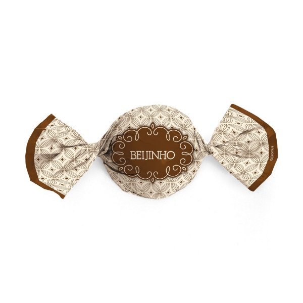 Papel Trufa 15x16cm - Gostosura Beijinho - 100 unidades - Cromus - Rizzo Embalagens