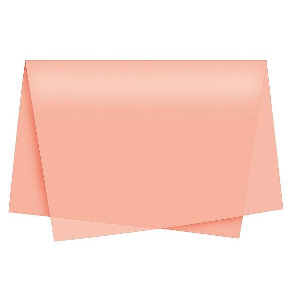 Papel de Seda - 49x69cm - Pêssego - 100 folhas - Cromus - Rizzo Embalagens