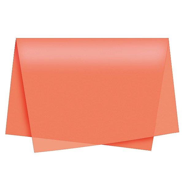 Papel de Seda - 49x69cm - Laranja - 100 folhas - Cromus - Rizzo Embalagens
