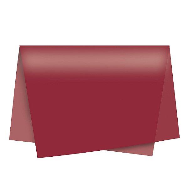 Papel de Seda - 49x69cm - Vinho - 100 folhas - Cromus - Rizzo Embalagens