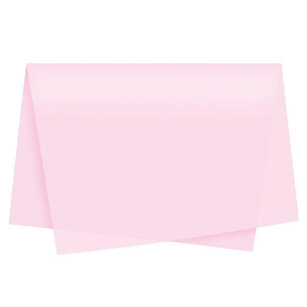 Papel de Seda - 49x69cm - Rosa - 100 folhas - Cromus - Rizzo Embalagens
