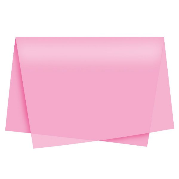 Papel de Seda - 49x69cm - Rosa Médio - 100 folhas - Cromus - Rizzo Embalagens
