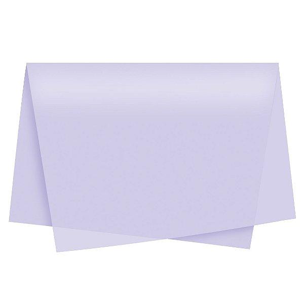Papel de Seda - 49x69cm - Lilás - 100 folhas - Cromus - Rizzo Embalagens