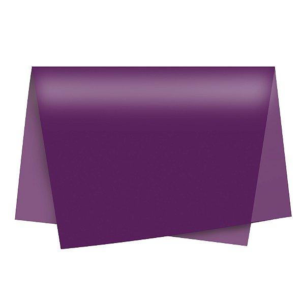 Papel de Seda - 49x69cm - Ameixa - 100 folhas - Cromus - Rizzo Embalagens
