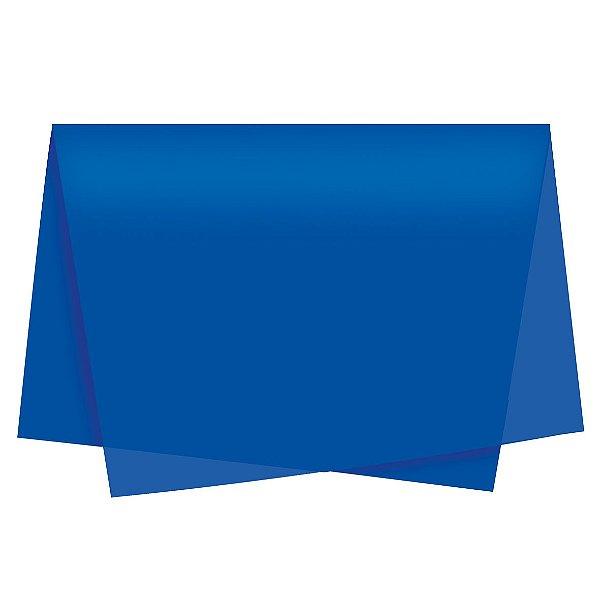 Papel de Seda - 49x69cm - Azul Royal - 100 folhas - Cromus - Rizzo Embalagens