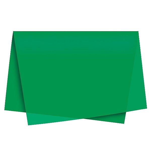 Papel de Seda - 49x69cm - Verde Bandeira - 100 folhas - Cromus - Rizzo Embalagens