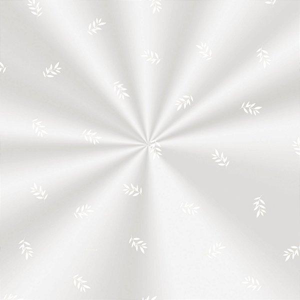 Saco Decorado Raminhos Branco - 15x22cm - 100 unidades - Cromus - Rizzo Embalagens