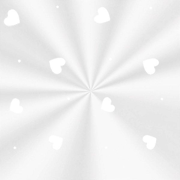 Saco Decorado Love Branco - 15x29cm - 100 unidades - Cromus - Rizzo Embalagens