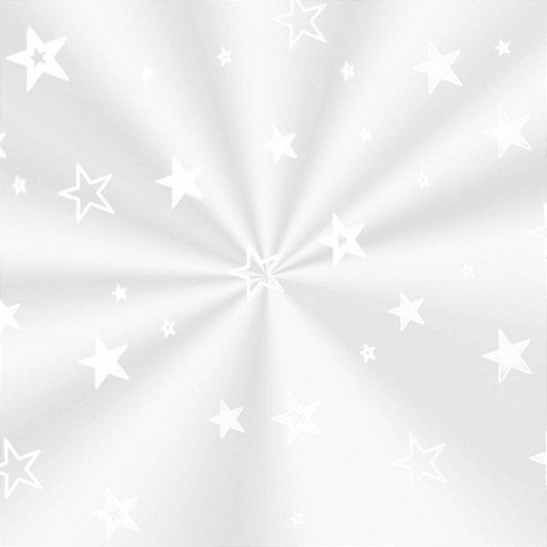 Saco Decorado Estrela Branca - 20x29cm - 100 unidades - Cromus - Rizzo Embalagens