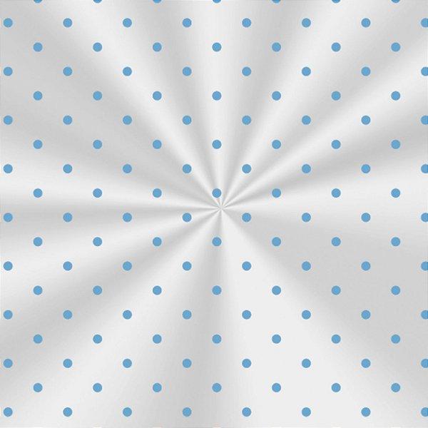 Saco Decorado Poá Azul - 25x37cm - 100 unidades - Cromus - Rizzo Embalagens
