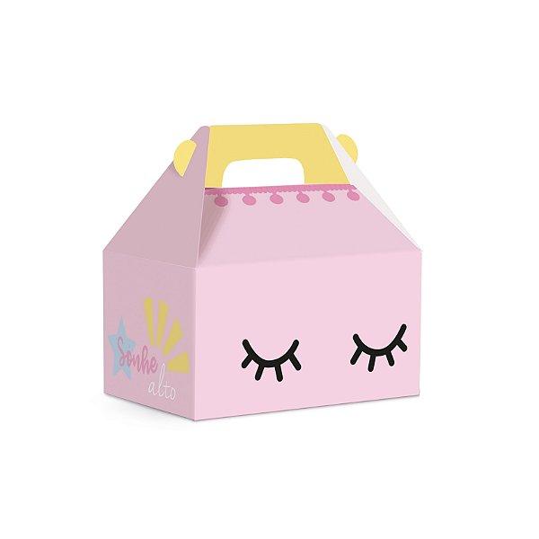 Caixa Maleta Kids Festa Pedacinho Do Céu Rosa 12X8X12cm - 10 unidades - Cromus - Rizzo Festas