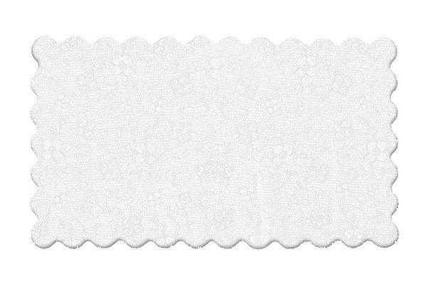 Fundo Rendado Retangular Branco 27X16cm - 100 unidades - Cromus - Rizzo Embalagens