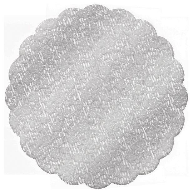 Fundo Rendado Redondo Prata 9cm - 100 unidades - Cromus - Rizzo Embalagens