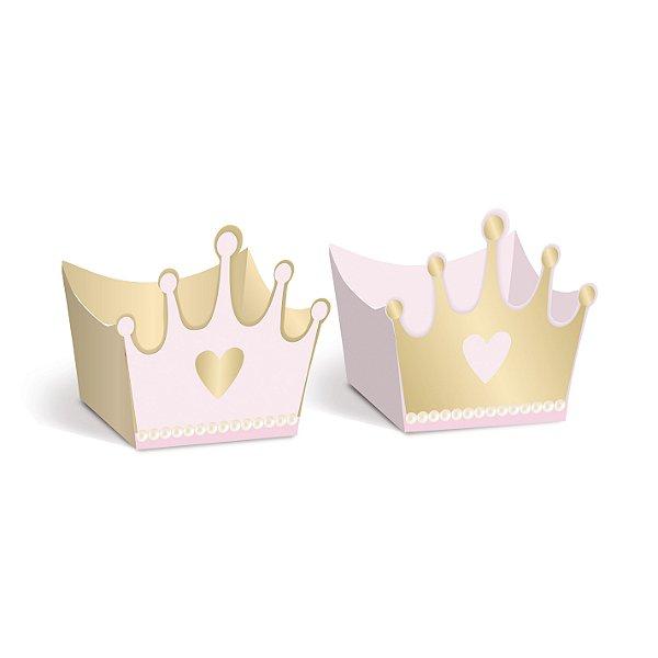 Forminha P/Doce Coroa Comp Reinado Da Princesa Uv 10X24