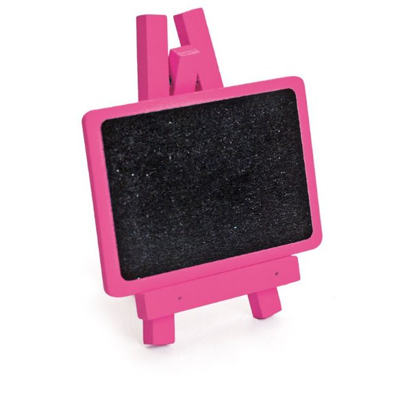 Lousa para Personalizar Mini Cavalete Retangular Pink - 03 unidades - Cromus - Rizzo Festas