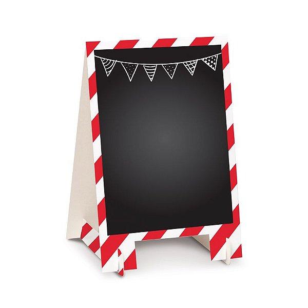 Lousa para Personalizar Cavalete de Papel Vermelho G - 02 unidades - Cromus - Rizzo Festas
