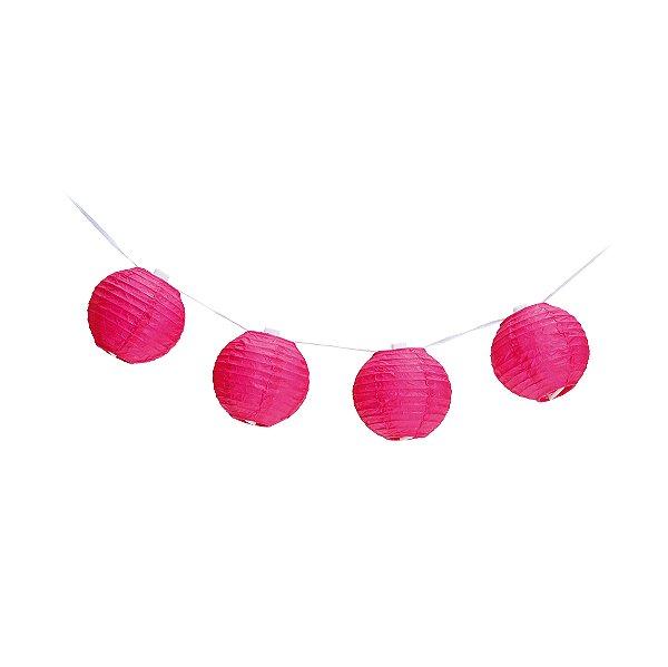 Varalzinho de Globos Pink - 01 unidade - Cromus - Rizzo Festas
