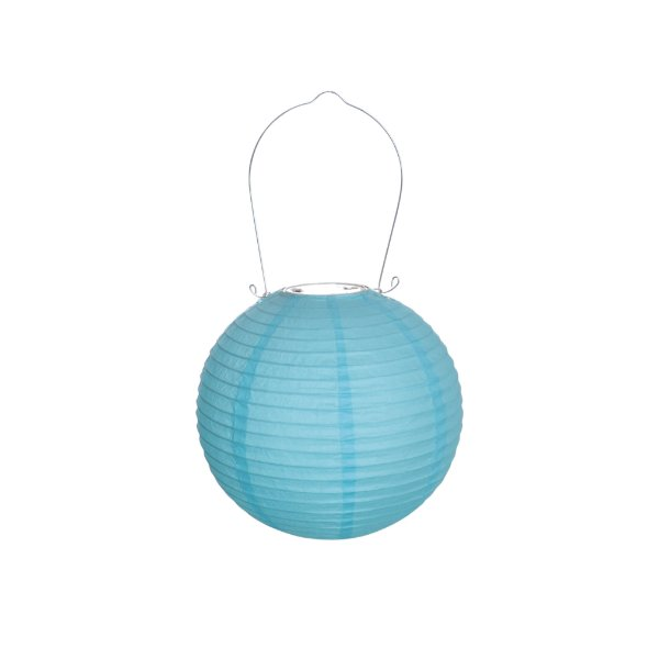 Lanterna de Papel Luminosa Azul 20cm - 01 unidade - Cromus - Rizzo Festas