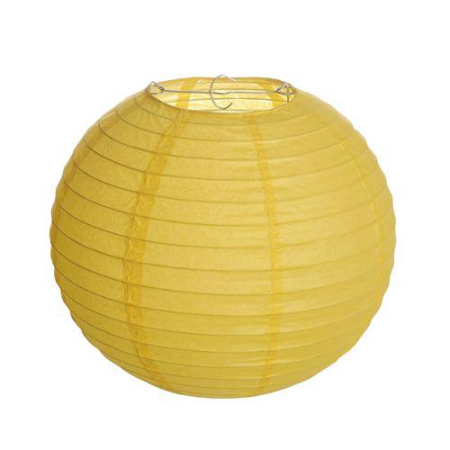 Lanterna de Papel Amarelo 35cm - 01 unidade - Cromus - Rizzo Festas