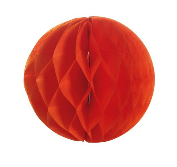Globo de Papel Colméia Vermelho 08cm - 03 unidades - Cromus - Rizzo Festas