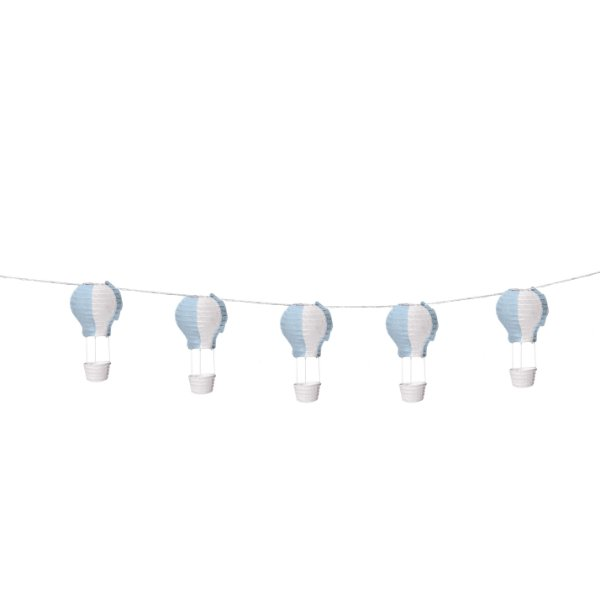 Varalzinho de Balões Luminosos Azul e Branco - 01 unidade - Cromus - Rizzo Festas