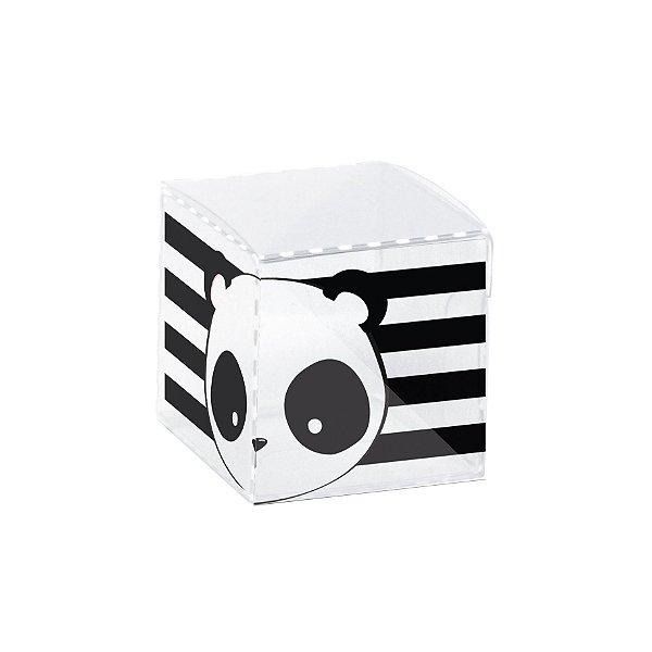Caixinha de Acetato para Lembrancinha Clean Festa Panda - 10 unidades - Cromus - Rizzo Festas