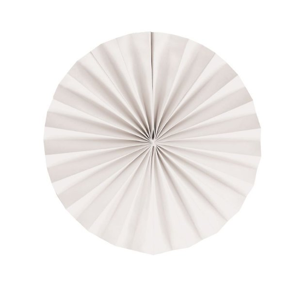 Leque Decorativo de Papel Branco 25cm - 02 unidades - Cromus - Rizzo Festas